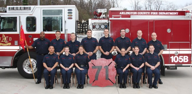 Recruit School 71 has graduated. If you are interested becoming an Arlington County Firefighter, Check out our application process.