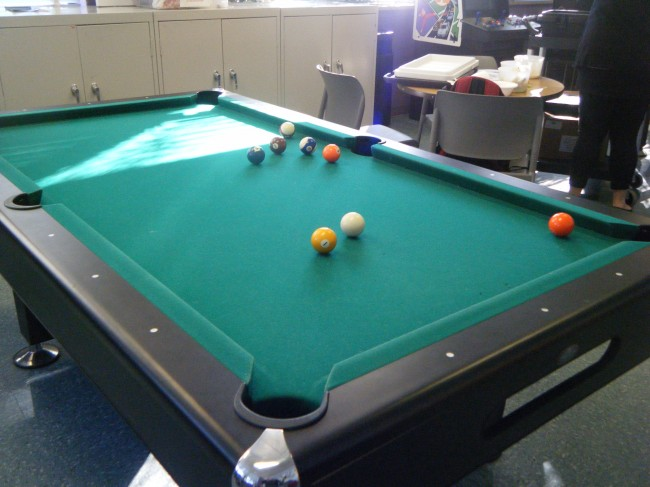 lubber run  pool table