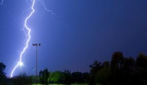 storm over sports field