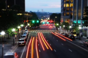LED traffic signals in Rosslyn.