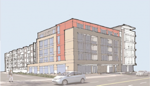 Drawing of Proposed 10th Street Flats