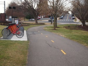 Phase 1 of the Washington Blvd Trail that was built in 2010 and links the Arlington Blvd Trail to the Penrose neighborhood near the Sequoia Plaza office center (Arlington DHS is located there)