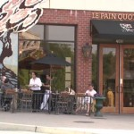 Outdoor seating in front of Le Pain Quotidien
