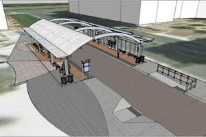 Crystal City Transitway Station Rendering