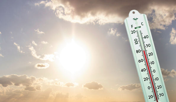 thermometer next to sun