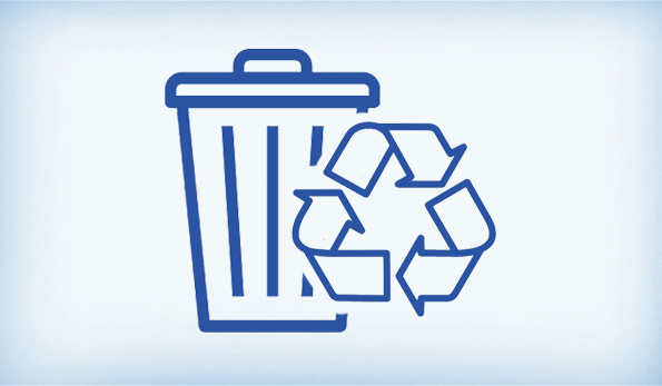 trash and recycling icon