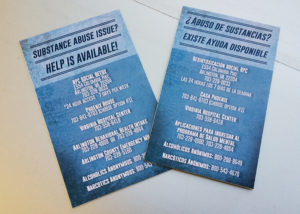 Substance abuse resources flyers