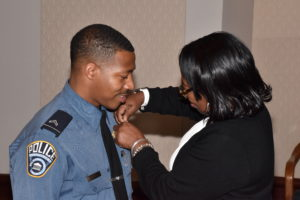 promotional ceremony badge pinning