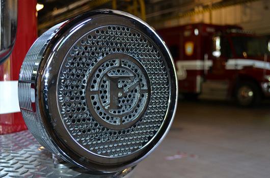 close up of engine siren