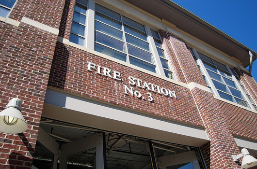 image of new entrance to fire station 3