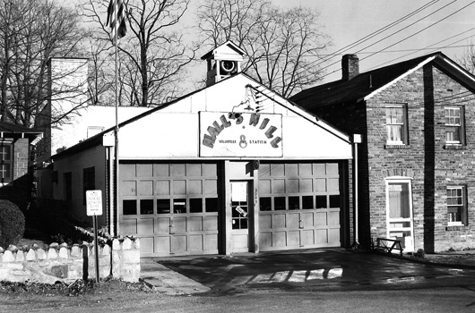 fire station 8 - Halls Hill vintage photo