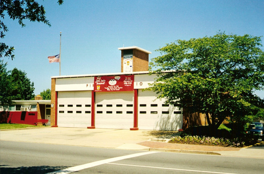 front of fire station 10