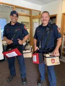 paramedics with equipment