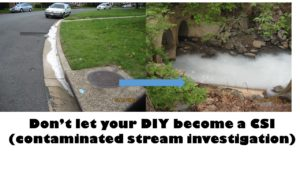 Don't let your do-it-yourself (DIY) project become a contaminated stream investigation (CSI)