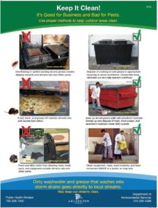 Keep wash water and grease out of storm drains