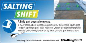 A little salt goes a long way - winter salt use