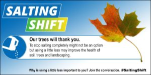 Use less winter salt, our trees will thank you