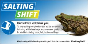 Use less winter salt, our wildlife will thank you