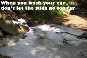 When you wash your car, don't let the suds go too far