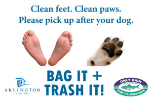 Clean feet, clean paws, please pick up after your dog