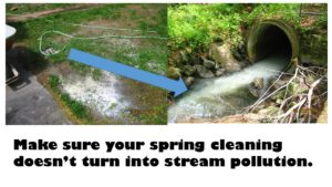 Make sure your spring cleaning doesn't turn into stream pollution