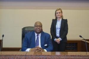 . Chief Judge William T. Newman, Jr. and Judge Katica Artukovic of Bosnia.
