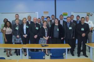 Sheriff Arthur, Judge Katica Artukovic and the representatives of the Bosnian Courts Police delegation.