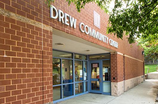 Entrance to Drew Community Center