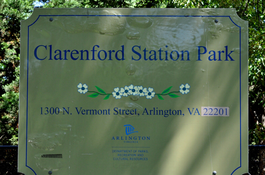 clarenford station park arlington county sign