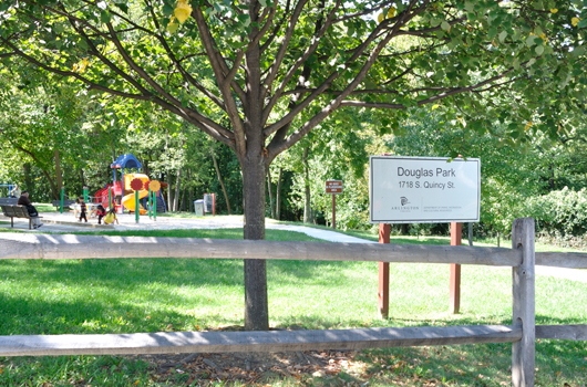 douglas park arlington county sign playground