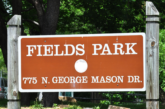 fields park arlington county sign