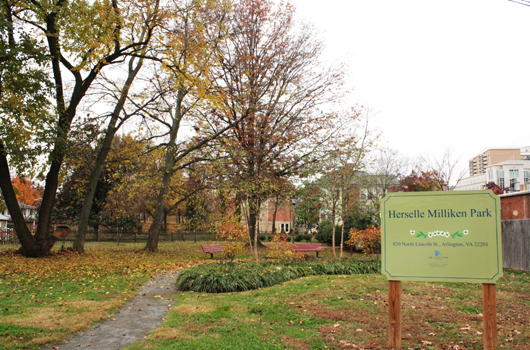 herselle_miliken_park_arlington_county_sign
