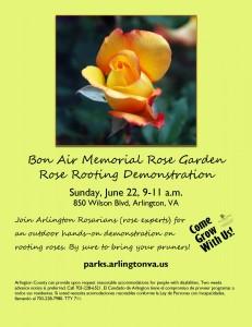 Bon Air Rose Planting Demo Flyer