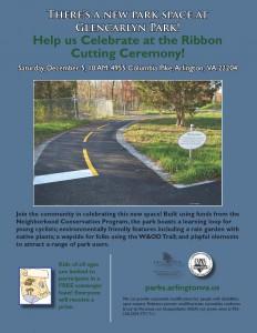 Glencarlyn Park Ribbon Cutting Flyer