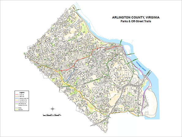 Map Of Arlington Va Trails   Parks & Recreation