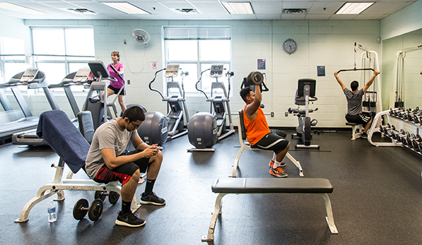 Fitness Room with patrons