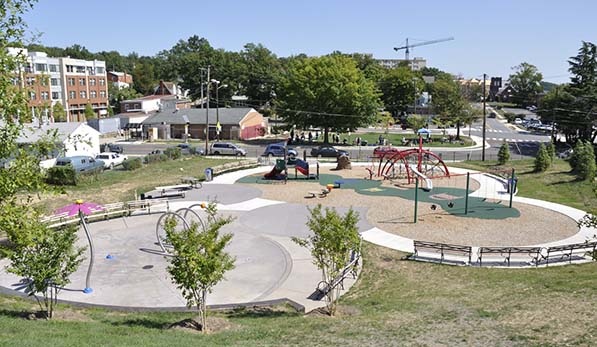 Drew Playground from hill