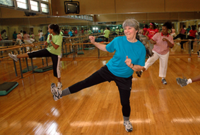 Senior exercises at Walter Reed