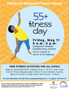 55+ fitness day may 11 langston-brown 9 am-3pm