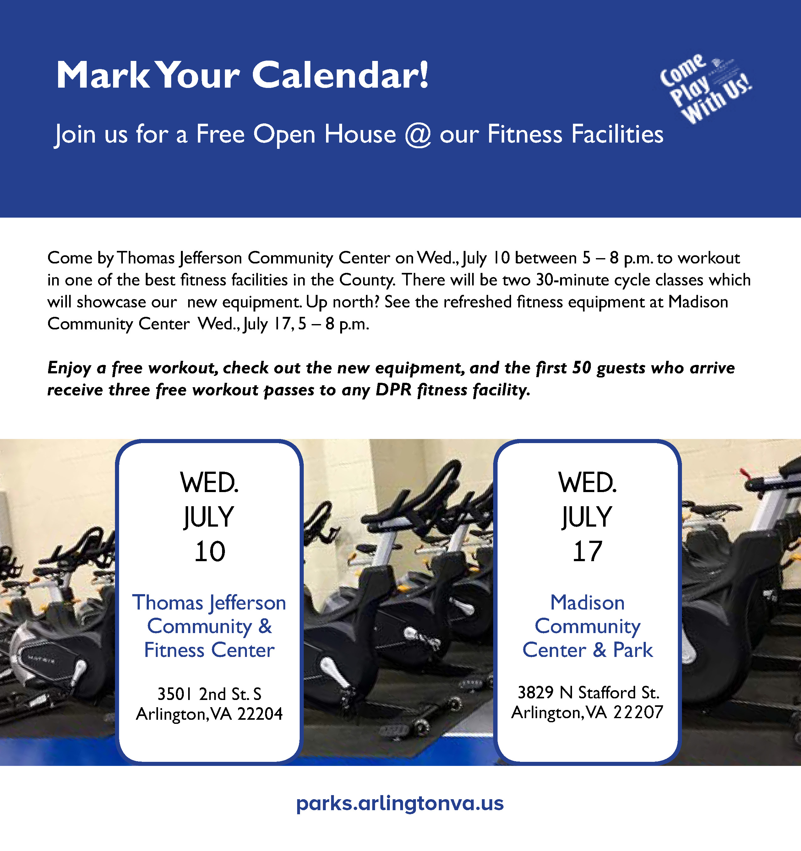Madison Fitness Gloves: Join Us For A Free Open House At Our Fitness Facilities