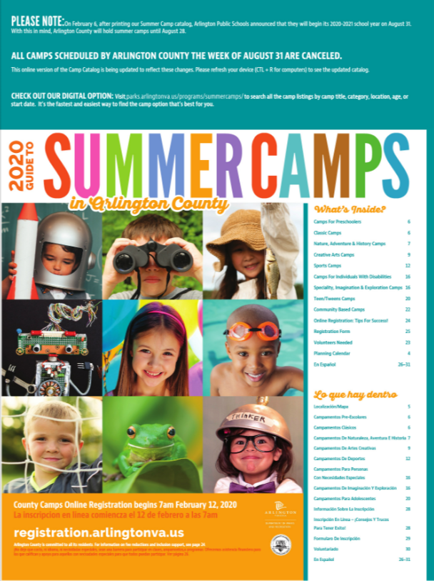 View the camp catalog
