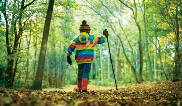 little kid on a hike