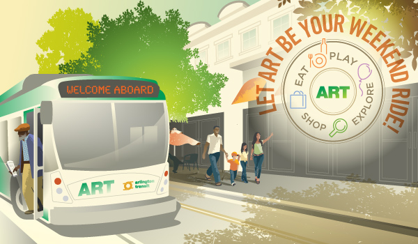 ART image showing a bus on the street