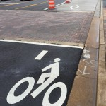 Bike lane markings