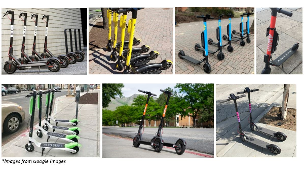 Images of e-scooters