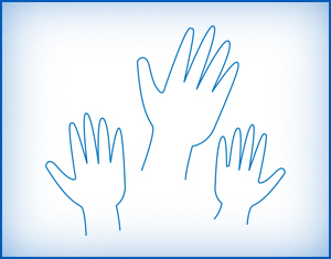 raised hands icon