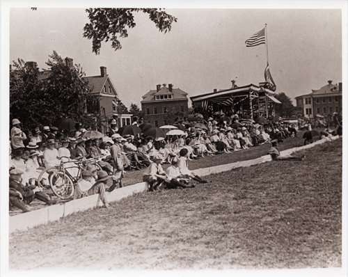 Spectators at the Fort Myer Fourth of July Parade, unknown date