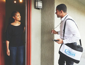 census_worker_greeted_by_woman_at_door