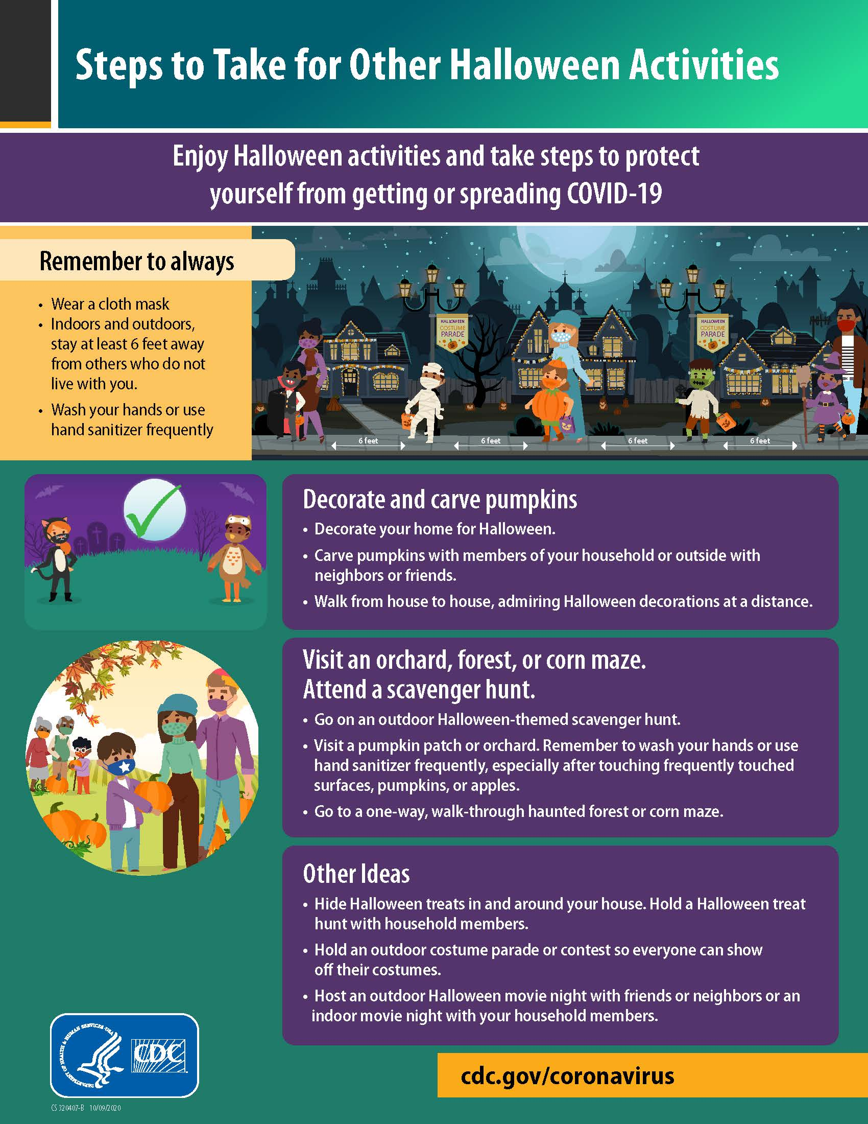 steps to take for other halloween activities