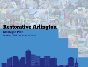 cover of the Restorative Arlington Draft Strategic Plan